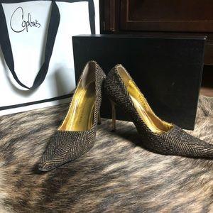 Giuseppe Zanotti Moro Tweed Heels Size 36.5